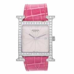 Hermes Ladies Stainless Steel Heure H Quartz Wristwatch