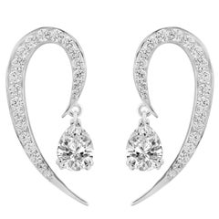 Full Curve White Gold and Diamond Earrings
