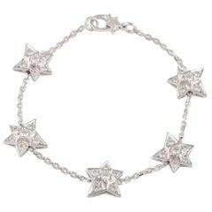 Chanel White Gold Diamond Comete Bracelet 0.90 Carat