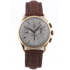 Omega yellow gold Chronograph Manual Wristwatch