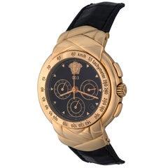 Versace Yellow Gold 003 Chronograph Ltd Ed Automatic Wristwatch