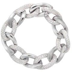 18 Karat White Gold Diamond Link Bracelet