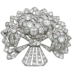 1930s Diamond and Platinum Spray Brooch