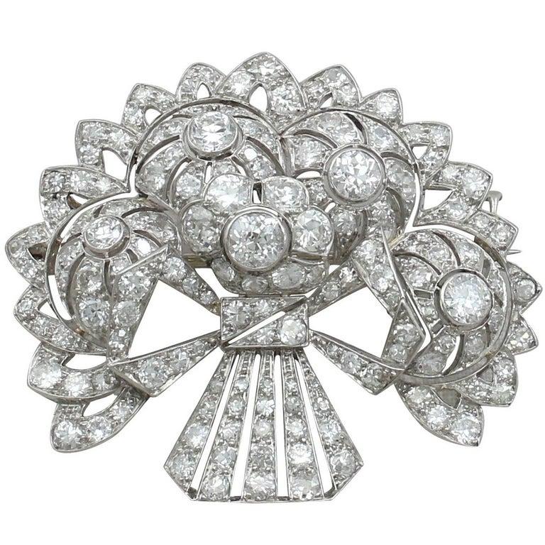 1930s Diamond and Platinum Spray Brooch