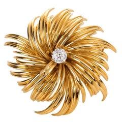 Tiffany & Co Diamond and Gold Pin Brooch