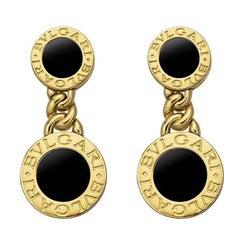 Bulgari Yellow Gold Onyx Bvlgari-Bvlgari Drop Earrings