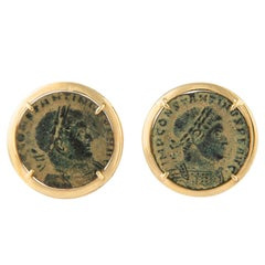Ella Gafter Antique Coin Yellow Gold Cufflinks