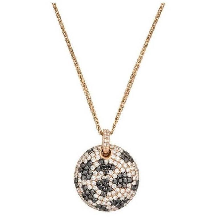 Rose Gold Black and White Diamond Pendant