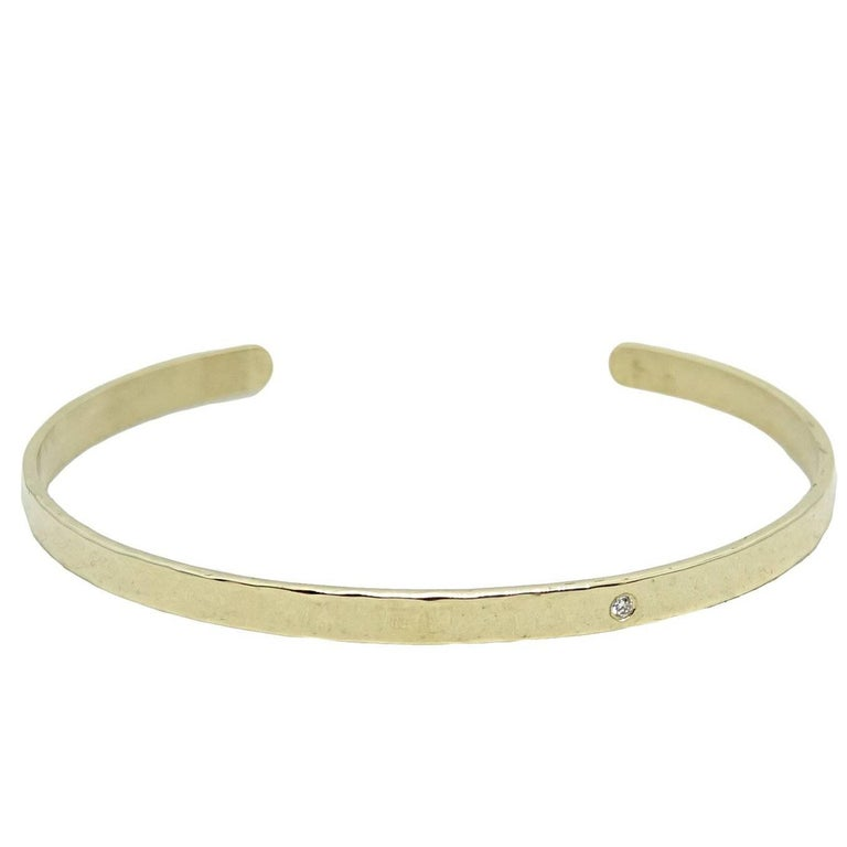 Julez Bryant Thin Yellow Gold Cuff