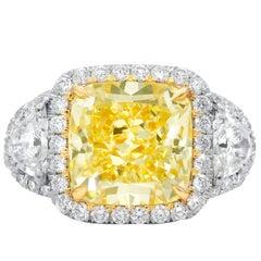 5.15 Carat Canary Yellow Diamond Ring