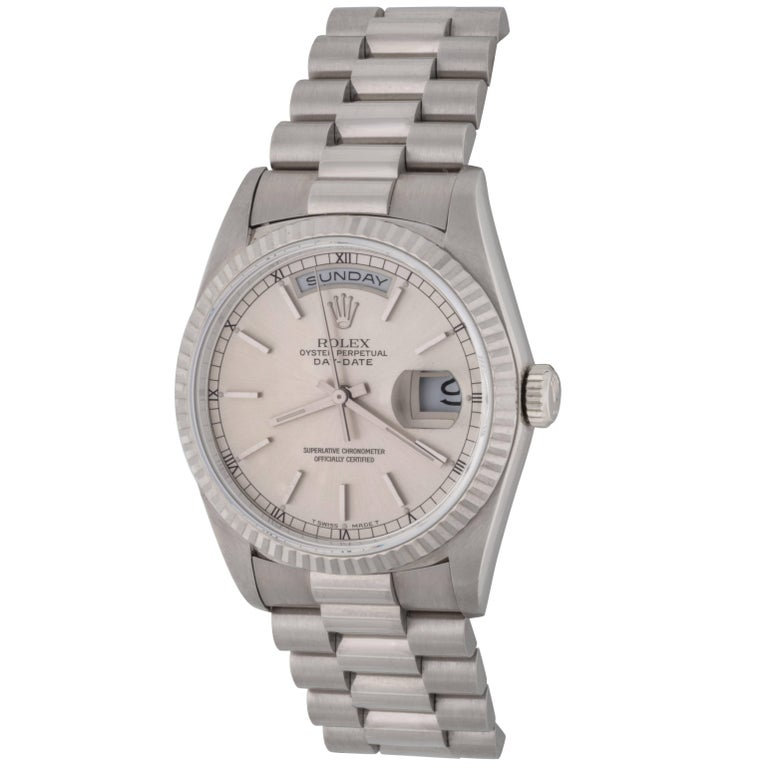 Rolex White Gold President Day-Date Automatic Wristwatch Ref 18239