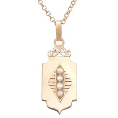 Antique Victorian Seed Pearl and Rose Gold Locket