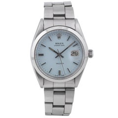 Rolex Stainless Steel Oyster Date Precision Manual Wind Wristwatch