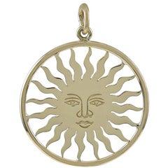 Gold St. Moritz Sun Face Charm