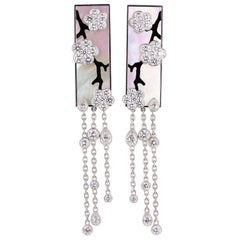 Van Cleef & Arpels Miroir des Eaux Diamond Mother-of-Pearl Earrings
