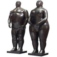 Fernando Botero Adam and Eve, 1990