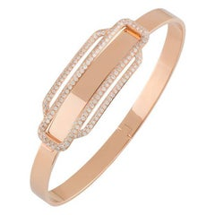 Hermes Rose Gold Diamond Bangle