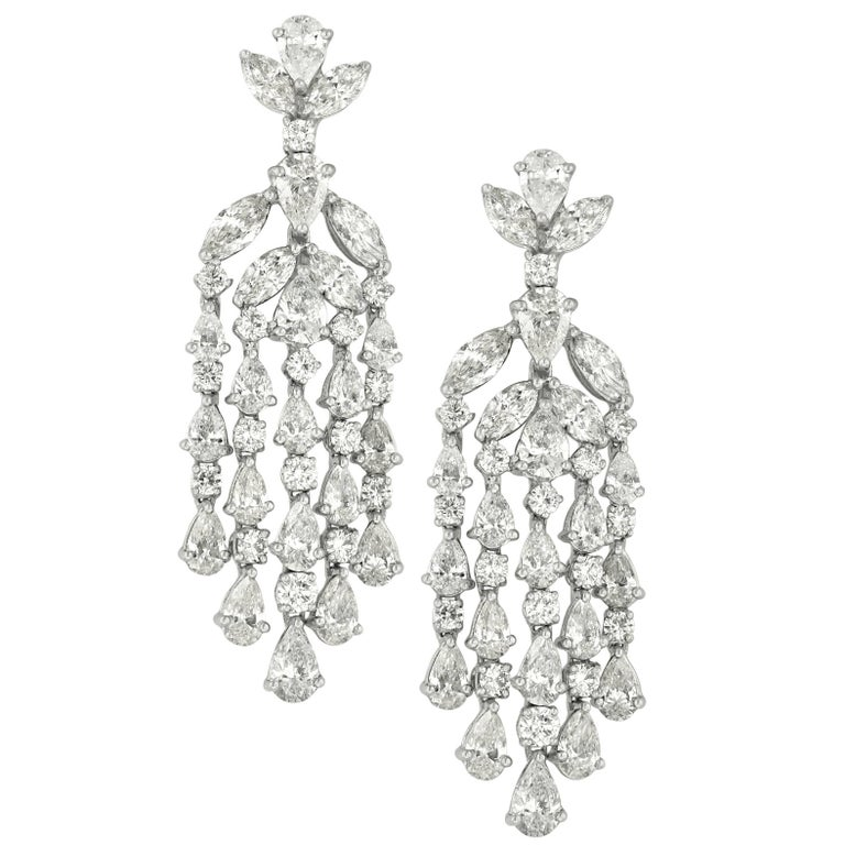 Diamond Chandelier Earrings in Platinum