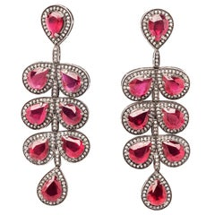 Clarissa Bronfman Ruby and Diamond Earrings