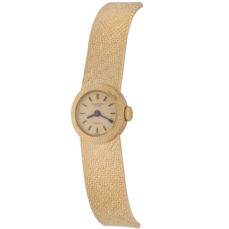 Patek Philippe Ladies Yellow Gold Manual Wind Wristwatch Ref 3306