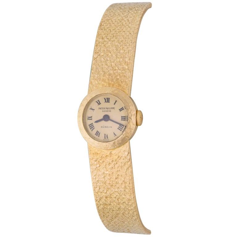 Patek Philippe Ladies Yellow Gold Manual Wind Wristwatch Ref 3266
