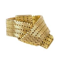 Hermes, Gold Scarf Motif Ring