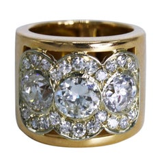 Diamond and Gold Band Ring