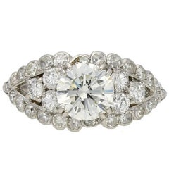 Chaumet Diamond Cluster Ring, French, circa 1935