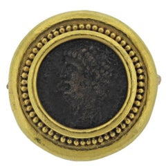 Elizabeth Locke Ancient Coin Gold Brooch