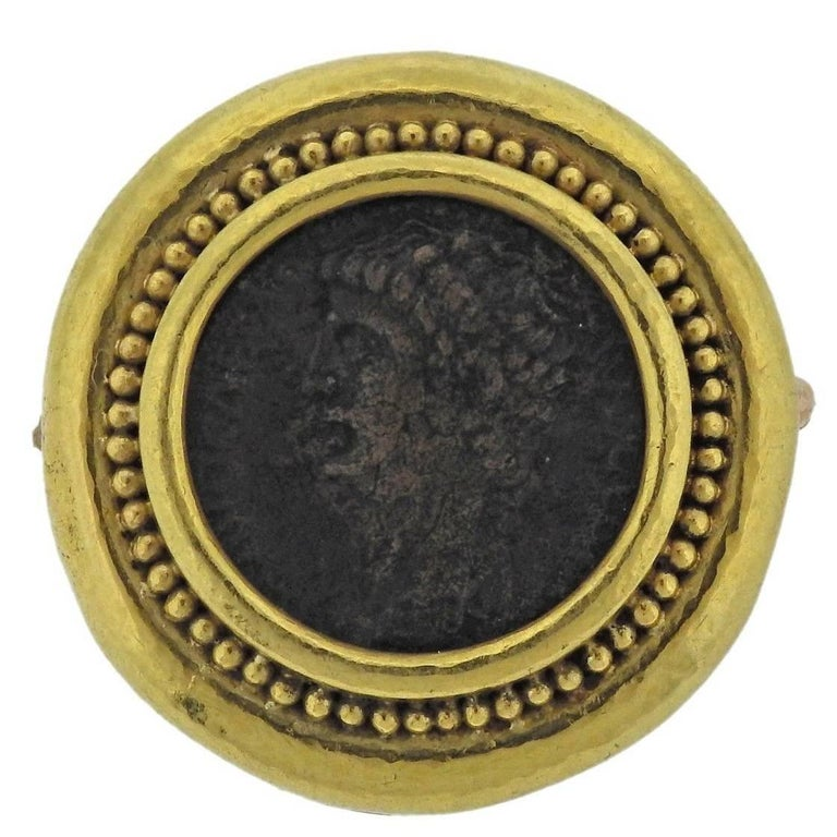 Elizabeth Locke Ancient Coin Gold Brooch