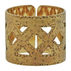 Buccellati Yellow Gold Wide Band Ring