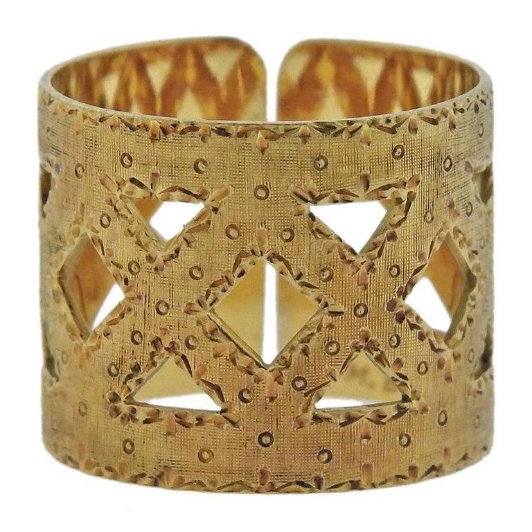 Buccellati Yellow Gold Wide Band Ring