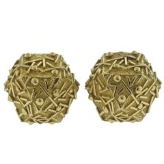 1970s Tiffany & Co. Gold Geometric Earrings