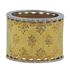 Buccellati Gold Wide Band Ring