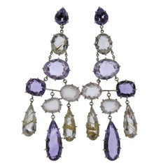 H. Stern Spring Quartz Amethyst Gold Chandelier Earrings