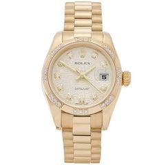 Rolex Datejust Diamond 18 Karat Yellow Gold Ladies 179368