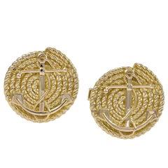 Gold Nautical Cufflinks