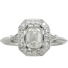 Vintage and Contemporary Diamond and Platinum Dress Ring