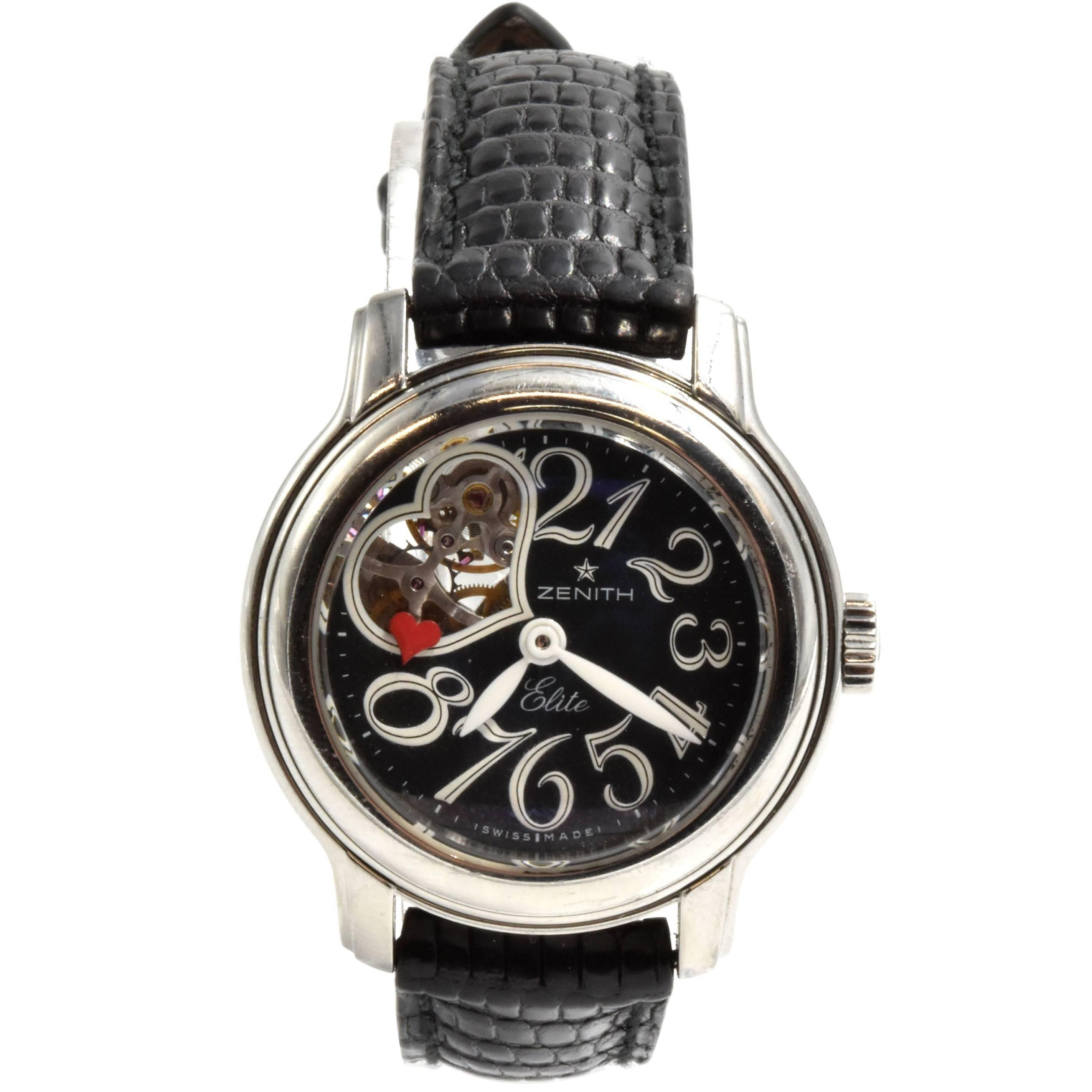 Zenith Ladies Stainless Steel Elite Chrono-Master Automatic Wristwatch
