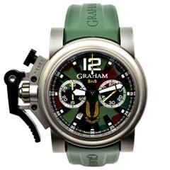 Graham Silver Titanium Chronofighter Commando SAS automatic Wristwatch