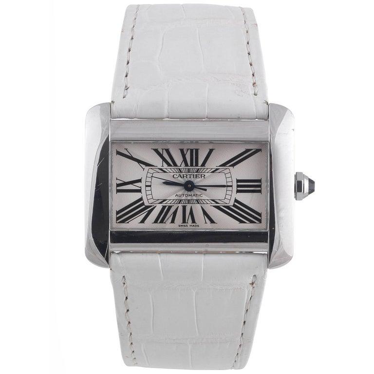 Cartier Stainless Steel Tank Divan Automatic Wristwatch Ref 2612