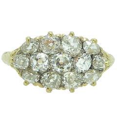 Antique 2.53 Carat Old Cut Diamond Ring, Victorian circa 1880s