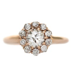 .45 Carat Diamond Yellow Gold Engagement Ring