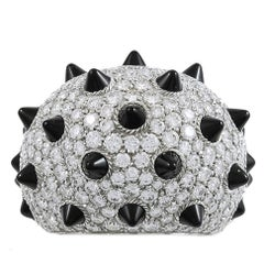 Cartier Diamond and Onyx Spike Ring