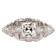 GIA Certified 1.04 Carat Diamond Platinum Engagement Ring