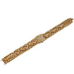 Bulgari Yellow Gold Pave Diamond Trika Wristwatch