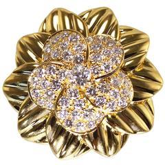 Van Cleef & Arpels Diamond Gold Brooch