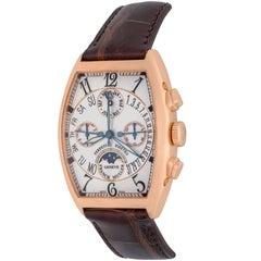 Franck Muller rose Gold Perpetual Calendar Chronograph Automatic Wristwatch