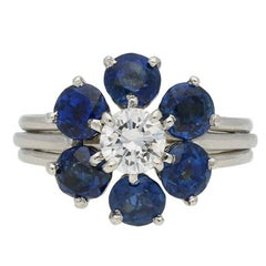 Cartier Sapphire and Diamond Ring, circa 1940