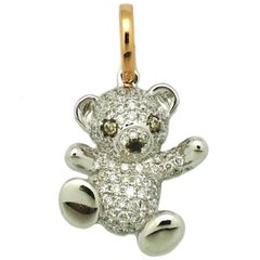 Diamond Tebby Bear Pendant